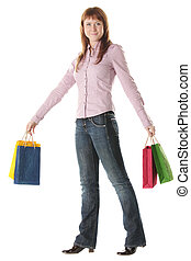 Shopper in pink