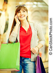 Shopper phoning