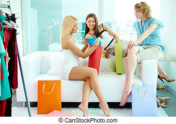Shoppers at home