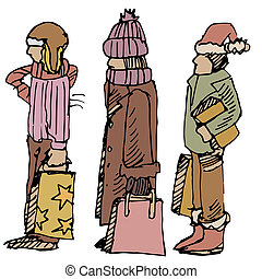 shoppers, hiver