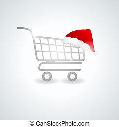 Shoppimg trolley - Christmas shopping trolley