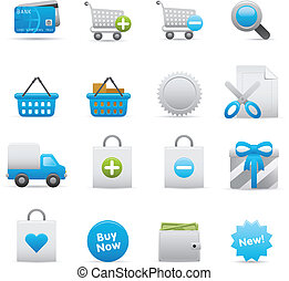 shopping, ícones, jogo, |, indigo, 01