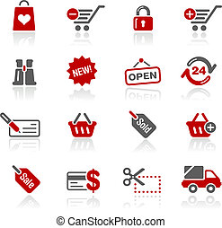 shopping, ícones, /, redico