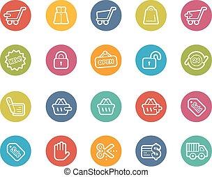 shopping, ícones