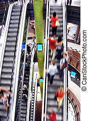 Shopping abstact - Shopping abstract. People rush on...