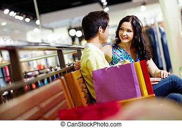 shopping, amanti