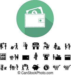 shopping and delivery icon