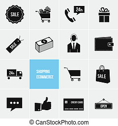 Shopping and Ecommerce Vector Icons