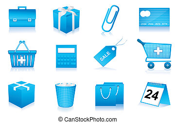 shopping and office icons