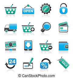 shopping and retail icons