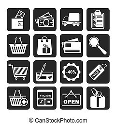 Shopping and website icons