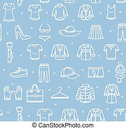 Shopping Background. Vector