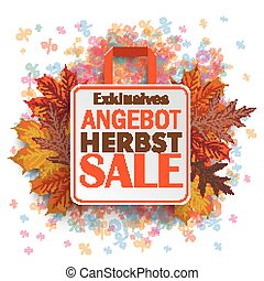 "Shopping Bag Autumn Angebot Percents - German text ""bestes..."