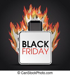 Shopping Bag Black Friday Fire