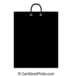 Shopping bag black icon over white background