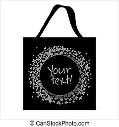 Shopping bag butterfly design