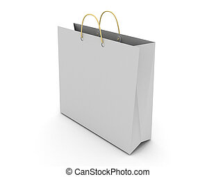shopping bag concept. 3d illustration