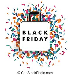 Shopping Bag Confetti Black Friday