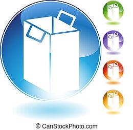Shopping Bag Crystal Icon