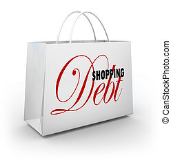 Shopping Bag Debt Compulsive Spending Broke - Shopping Debt...