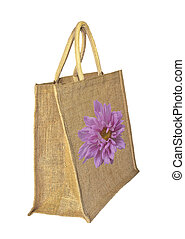 Shopping bag decorated with a flower
