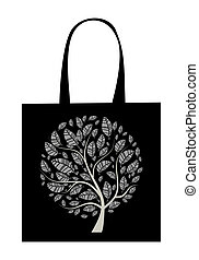 Shopping bag design, art tree