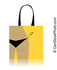 Shopping bag design - bikini bottom