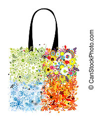 Shopping bag design, four seasons