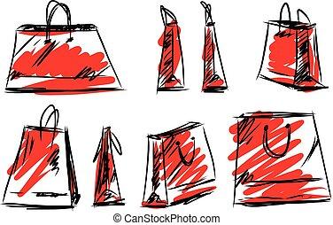 Shopping bag fashion style isolated on white background...