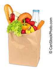 shopping bag filled with food
