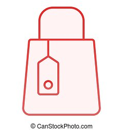 Shopping bag flat icon. Mall bag red icons in trendy flat style. Store package gradient style design, designed for web and app. Eps 10.