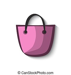 Shopping bag icon and