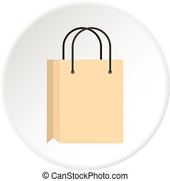 Shopping bag icon circle