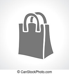 Shopping bag icon - Shopping bag vector icon