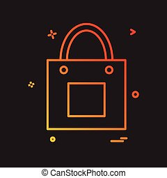 Shopping bag icon design vector