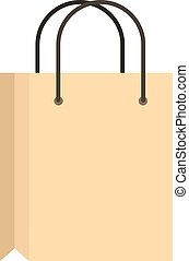 Shopping bag icon, flat style