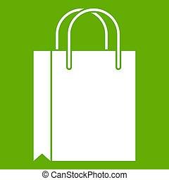 Shopping bag icon green