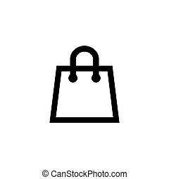 Shopping bag icon in flat style