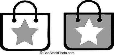 shopping bag icon isolated on white background