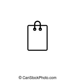 Shopping bag icon isolated on white. Vector. Isolated on white background.