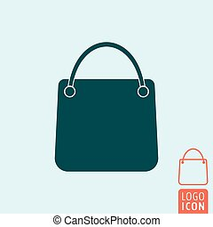 Shopping bag icon isolated