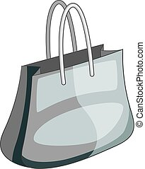 Shopping bag icon monochrome