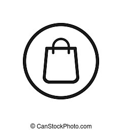 Shopping bag icon on a white background