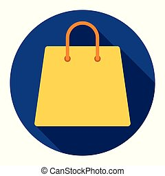 Shopping bag icon on blue background for any occasion