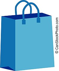 shopping bag icon on white background. flat style. shopping bag icon for your web site design, logo, app, UI. paper shopping bag symbol.