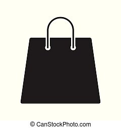 Shopping bag icon on white background, for any occasion