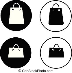 shopping bag icon on white background. shopping bag sign for your web site design, logo, app, UI. flat style. bag of shop symbol.