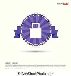 Shopping bag icon - Purple Ribbon banner
