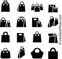 Shopping Bag icon set