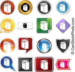 Shopping Bag Icon Set